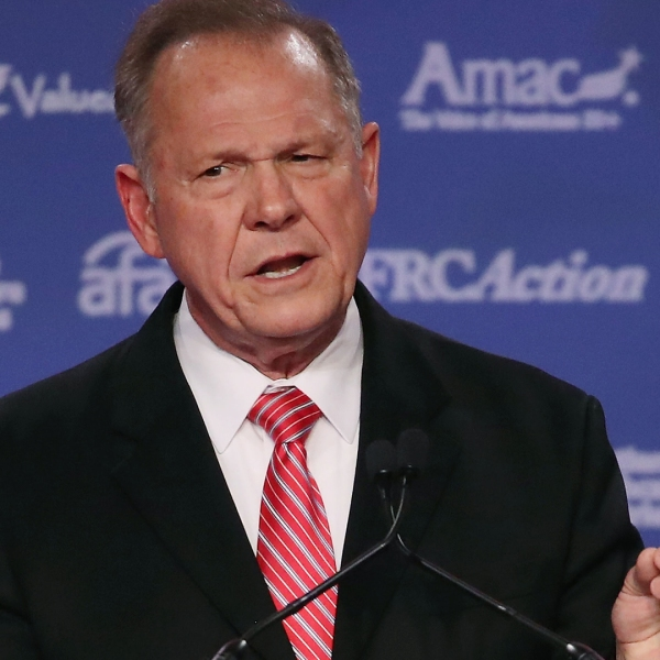 Roy Moore, GOP Senate candidate and former chief justice on the Alabama Supreme Court, speaks during the annual Family Research Council's Values Voter Summit on Oct. 13, 2017, in Washington, DC. (Credit: Mark Wilson / Getty Images)