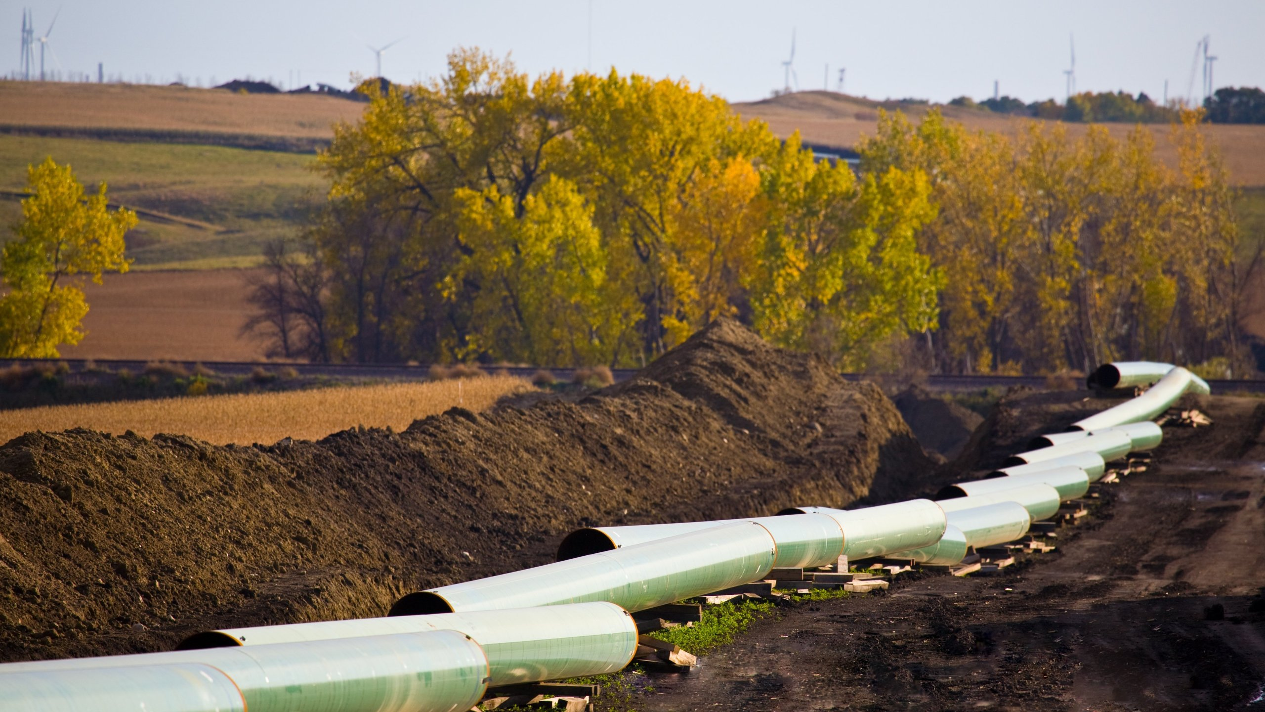 The Keystone Pipeline is seen in a file photo courtesy of TransCanada.