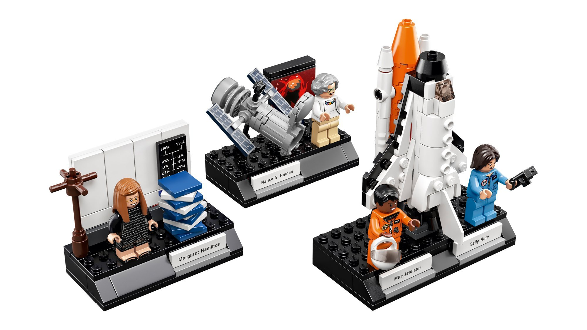 The set features four women from the U.S. space program. (Credit: LEGO)