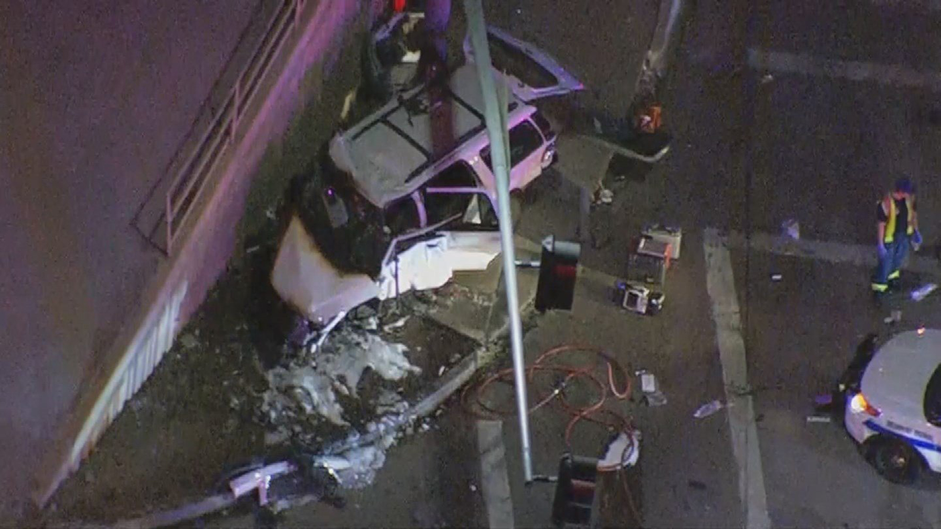 Phoenix police say a 14-year-old boy was behind the wheel in a fiery crash that left three people dead on Nov. 6, 2017. (Credit: KTRK)