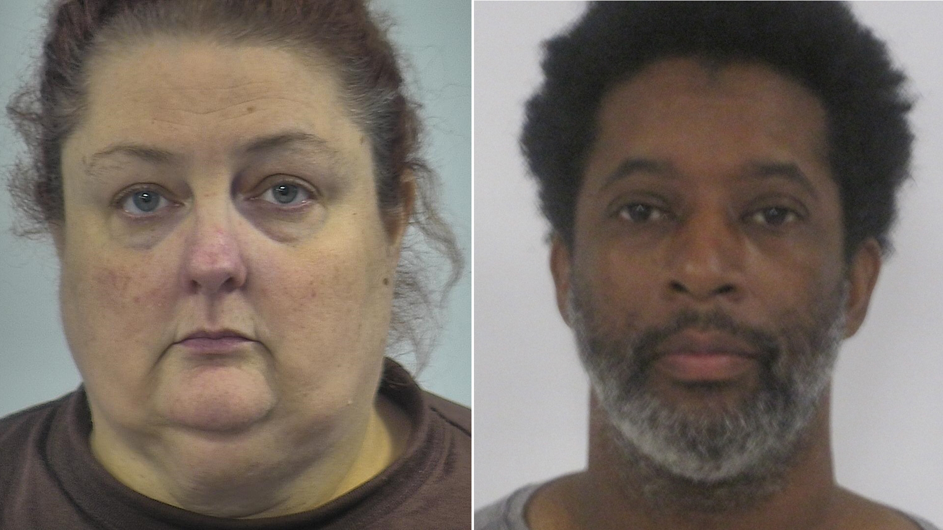 Alexandra Hatcher and Albert Hatcher Jr. are shown in 2017 photos from the Western Tidewater Regional Jail.