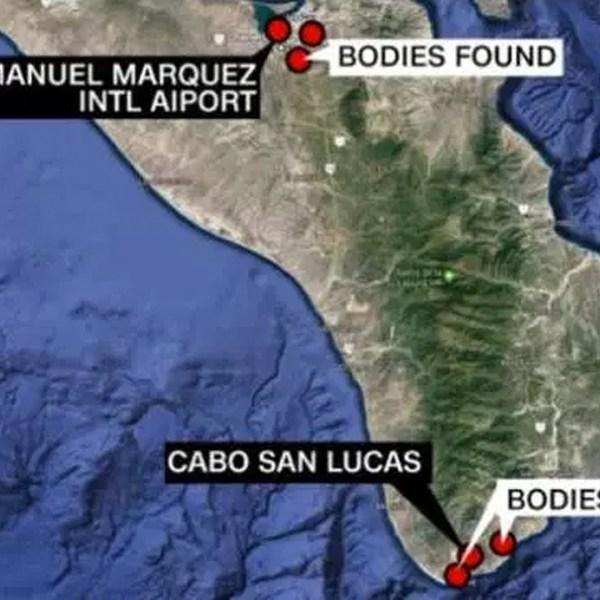 A map shows where bodies were found in Baja California Sur. (Credit: CNN)
