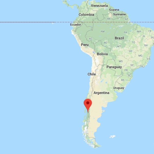 A landslide on Dec. 16, 2017, left 5 dead and 15 missing in a remote village in Chile's Chaitén region. (Credit: Google Maps)