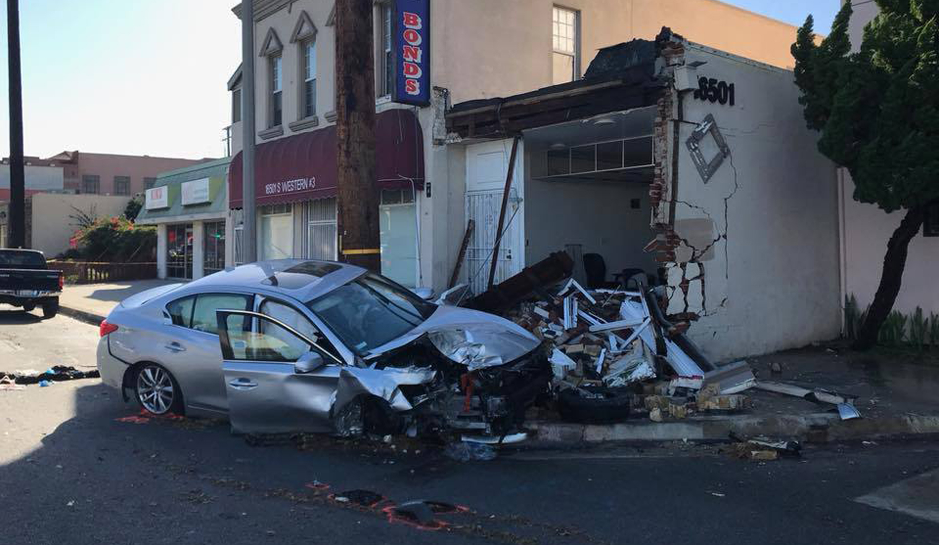 Gardena police released this photo of the crash scene on Dec. 21, 2017.