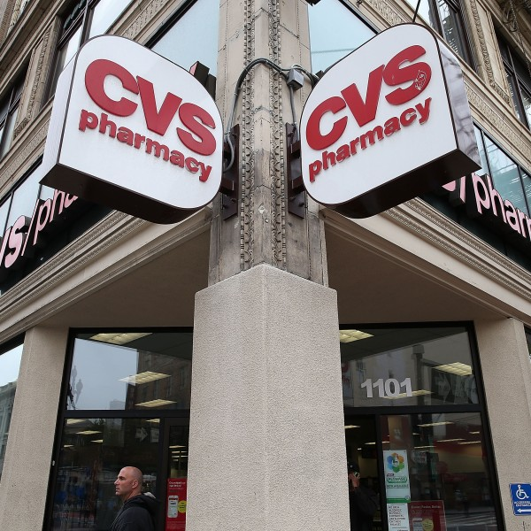 A CVS store in San Francisco is shown in a 2015 file photo. (Credit: Justin Sullivan/Getty Images)