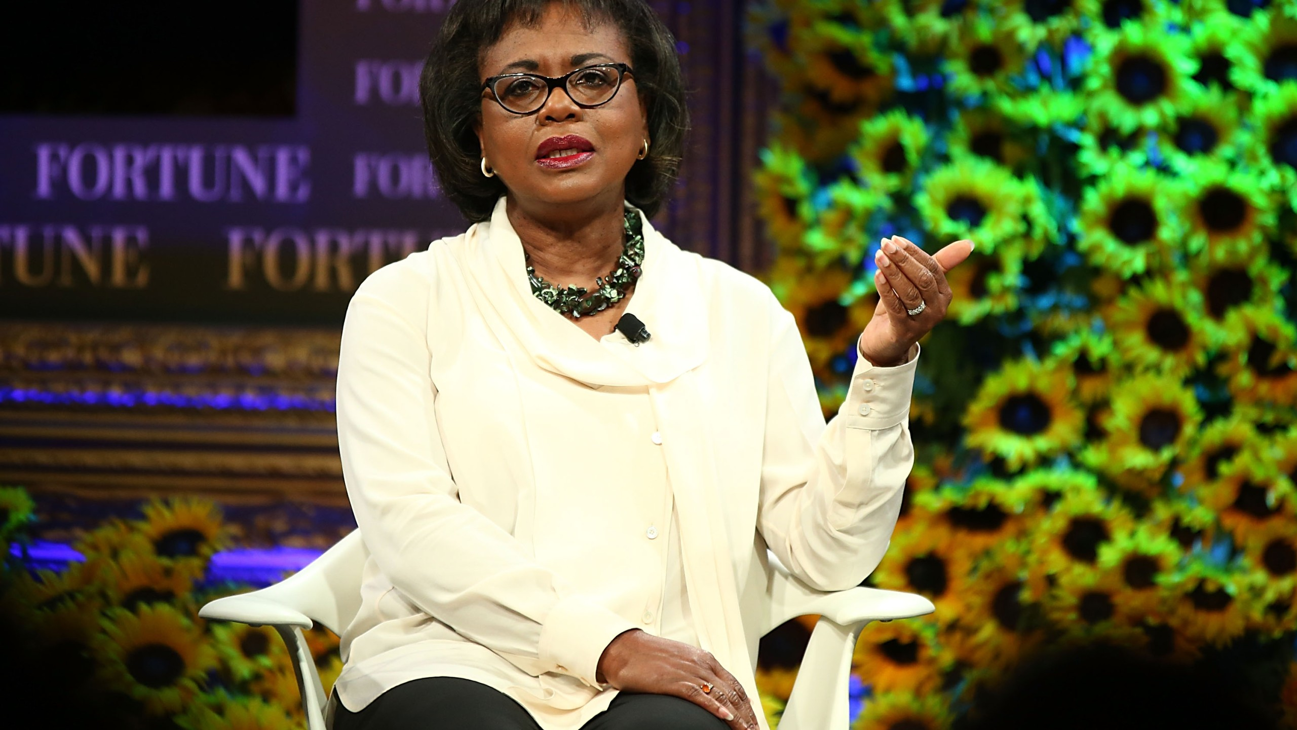 Anita Hill speaks onstage at the Fortune Most Powerful Women Summit 2016 on Oct. 19, 2016 in Dana Point. (Credit: Joe Scarnici/Getty Images for Fortune)