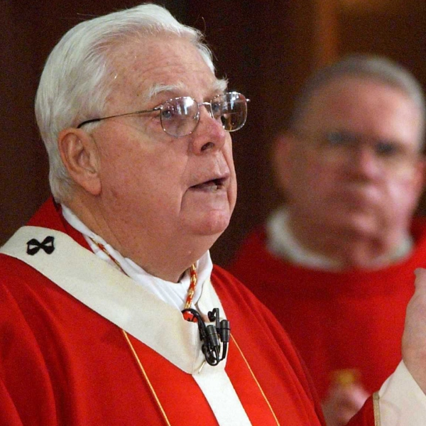 Bernard Law is seen in a file photo from 2002. (Credit: C.J. GUNTHER/AFP/Getty Images)