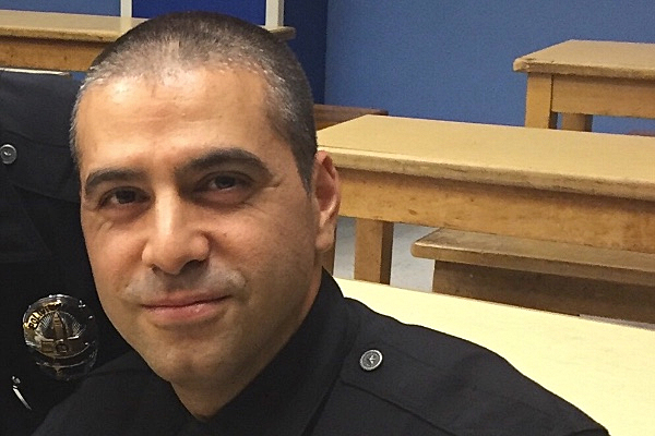Officer Chelico is seen in an image posted on a GoFundMe page.