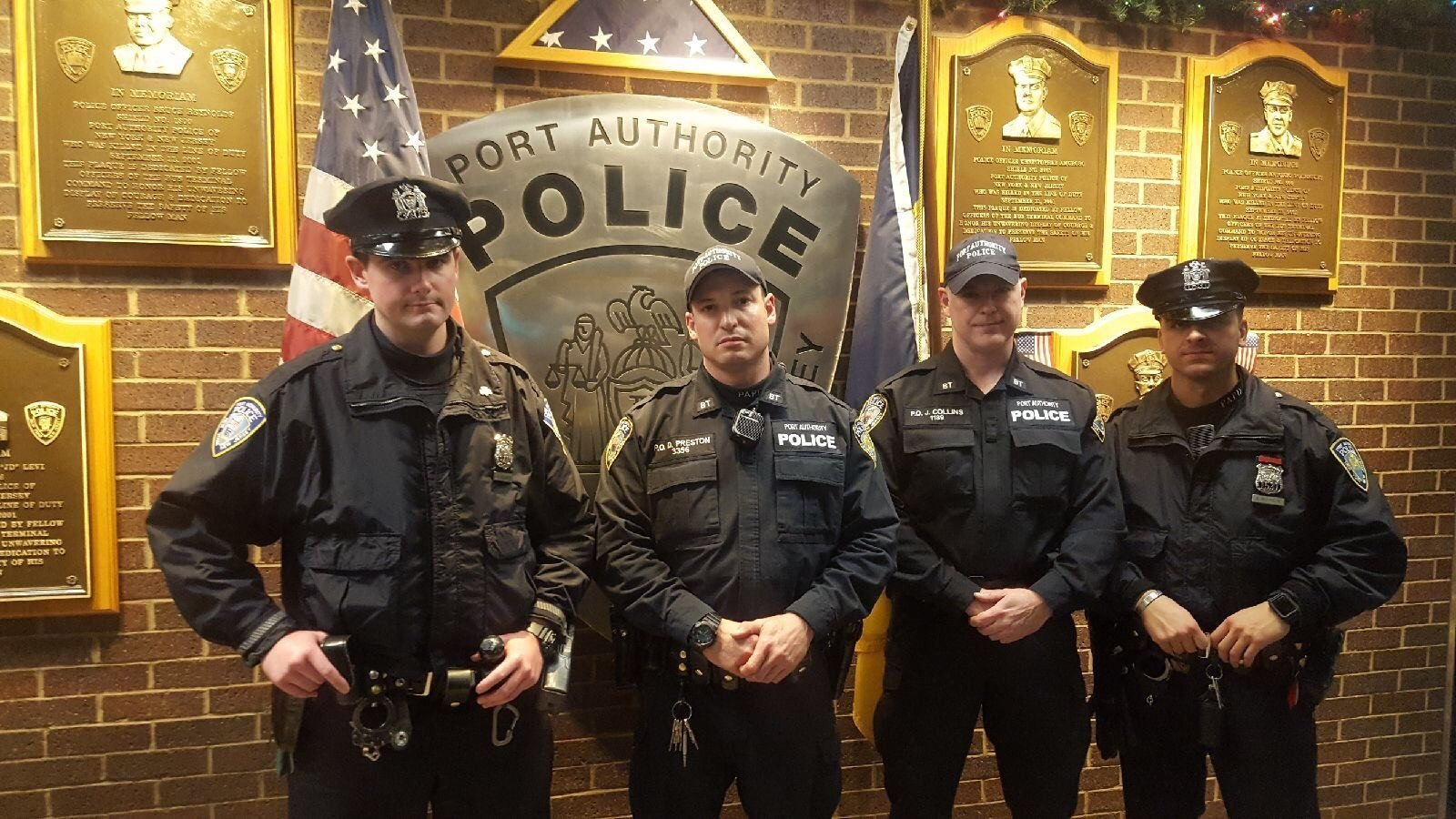 "Left to right: Sean Gallagher, Drew M. Preston, John ""Jack"" F. Collins and Anthony Manfredini. (Credit: PAPD Benevolent Association)"