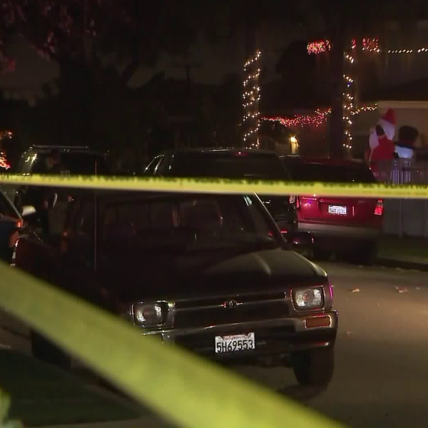 A man was fatally shot by police in South Gate, spurring an investigation on Dec. 28, 2017. (Credit: KTLA)