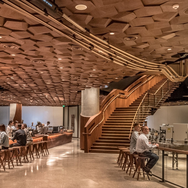 The new Starbucks Reserve Roastery in Shanghai, China is pictured here. (Credit: Starbucks via CNN)