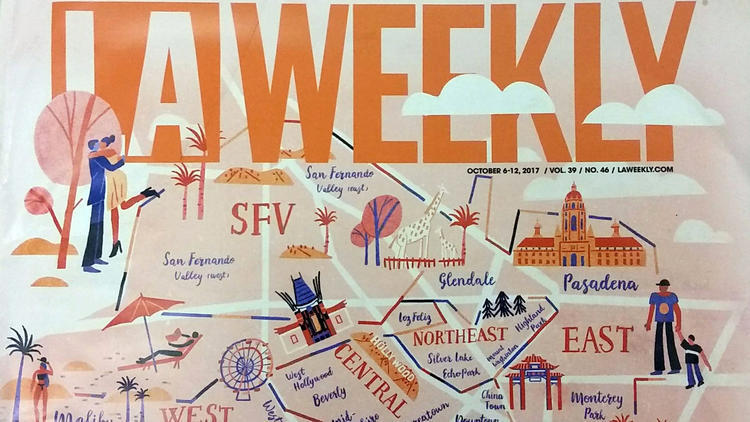LA Weekly's Best of L.A. issue came out in October 2017. (Credit: Lauren Raab / Los Angeles Times)