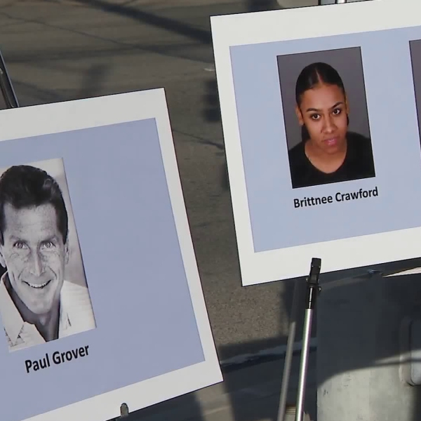 Police announced arrests in a 2014 hit-and-run that killed Paul Grover on Jan. 24, 2018. (Credit: KTLA)