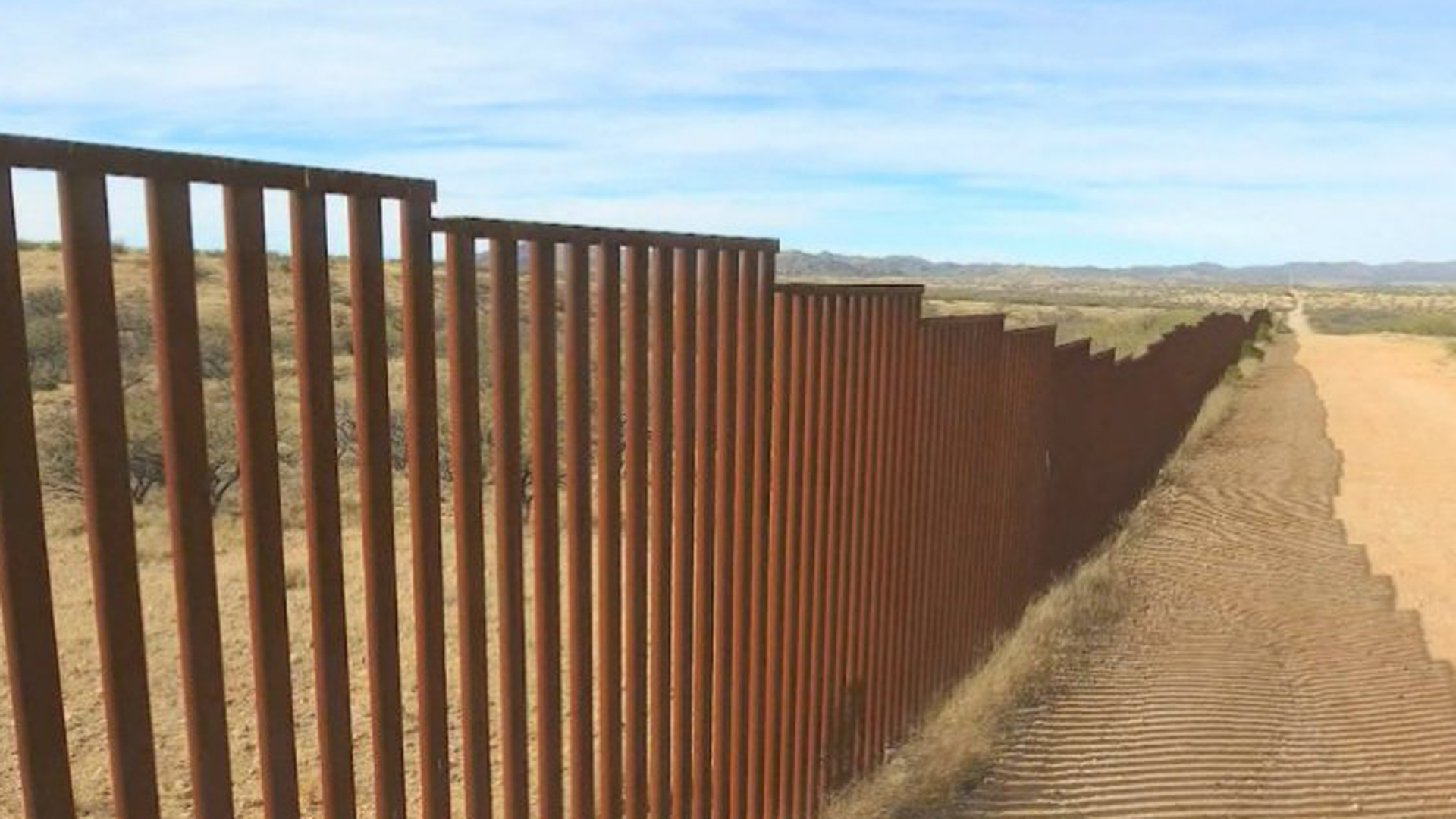 A prototype of the border wall promised by President Trump is seen here. (Credit: CNN)