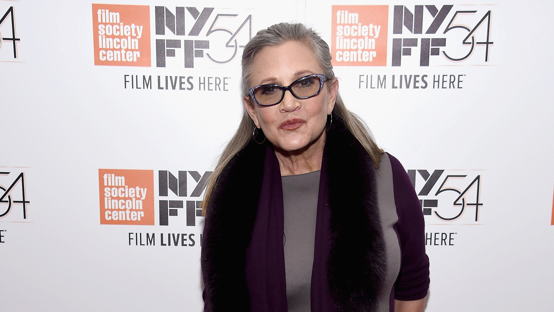 "Carrie Fisher attends the 54th New York Film Festival - ""Bright Lights"" on Oct. 10, 2016 in New York City. (Credit: Dimitrios Kambouris/Getty Images)"