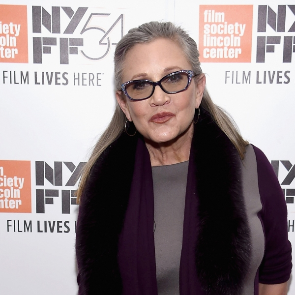 """Carrie Fisher attends the 54th New York Film Festival - """"Bright Lights"""" on Oct. 10, 2016 in New York City. (Credit: Dimitrios Kambouris/Getty Images)"""