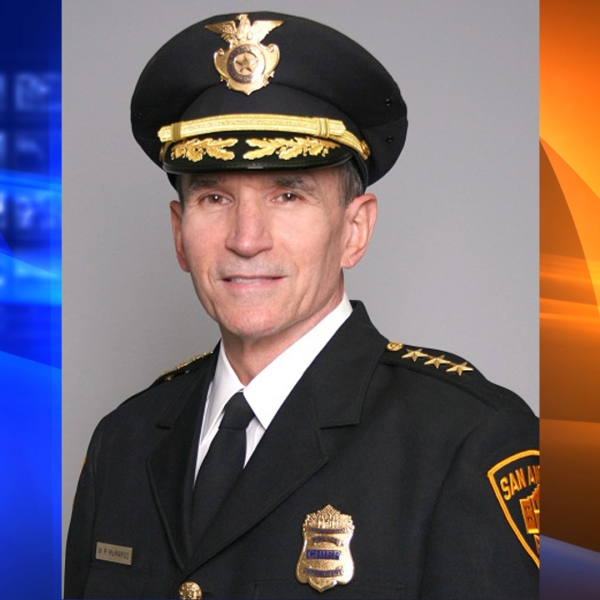 Chief Bill McManus is seen in a photo posted on the San Antonio Police Department's website.