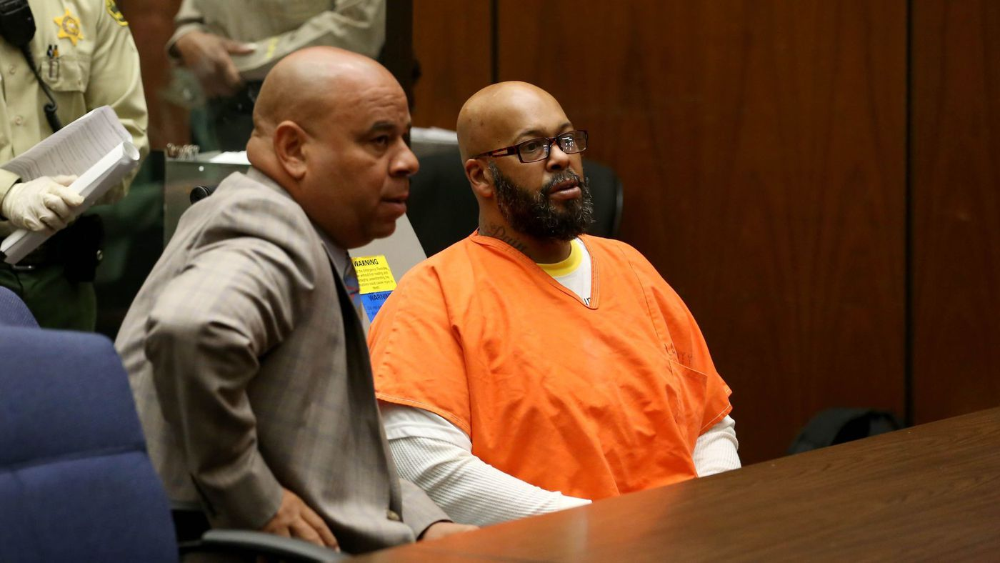 "Attorney Matthew Fletcher, left, previously represented Marion ""Suge"" Knight, right, during his ongoing homicide case. (Credit: Irfan Khan / Los Angeles Times)"