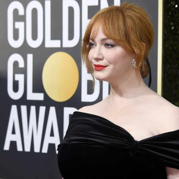 Christina Hendricks attends The 75th Annual Golden Globe Awards at The Beverly Hilton Hotel on Jan. 7, 2018. (Credit: Frazer Harrison / Getty Images)