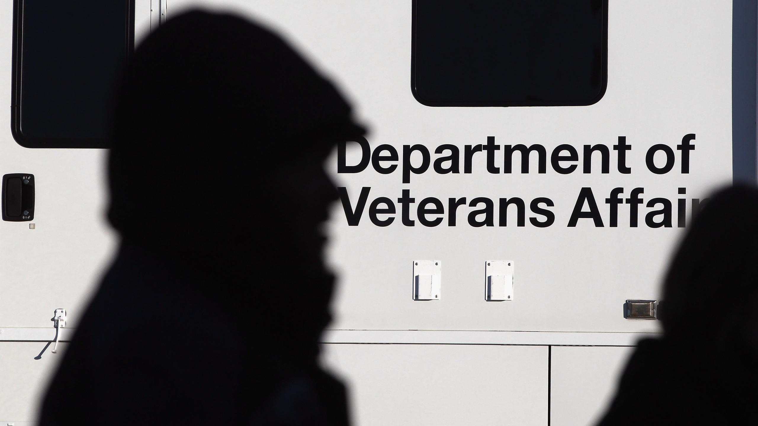 A sign for the Department of Veterans Affairs is seen at an agency event on Nov. 3, 2011, in Denver, Colorado. (John Moore/Getty Images)