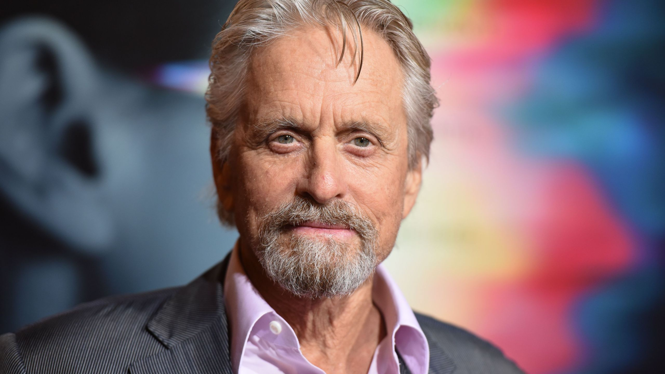 "Actor Michael Douglas arrives for the world premiere of Columbia Pictures' ""Flatliners,"" Sept. 27, 2017, at The Theatre at the Ace Hotel in Los Angeles. (Credit: Robyn Beck / AFP / Getty Images)"