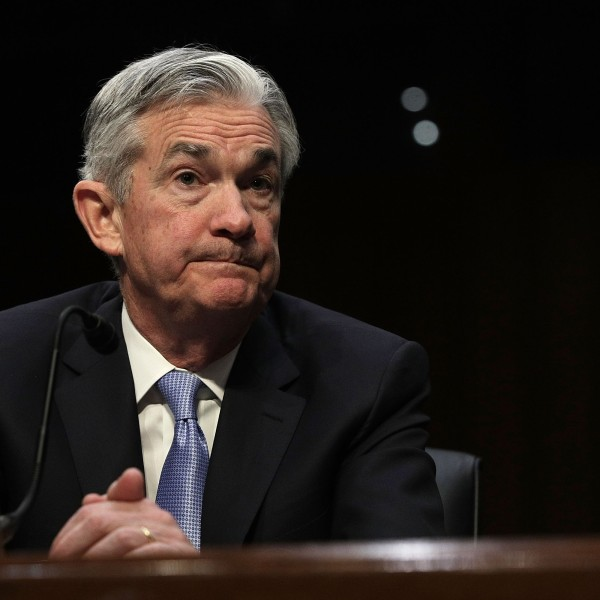 Chairman of the Federal Reserve nominee Jerome Powell testifies during his confirmation hearing before the Senate Banking, Housing and Urban Affairs Committee, Nov. 28, 2017. (Credit: Alex Wong / Getty Images)