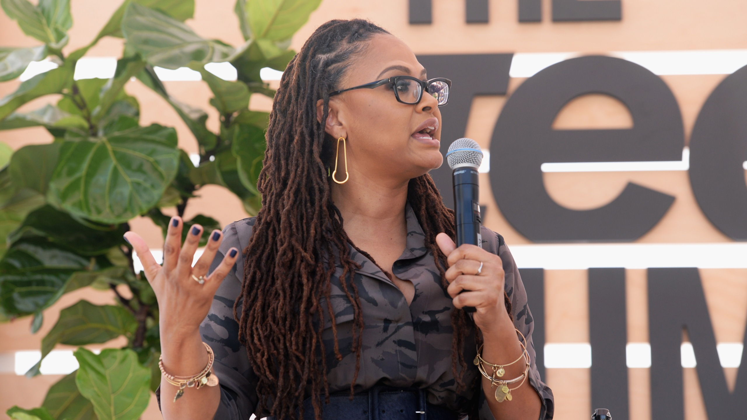 Ava DuVernay speaks onstage during The Teen Vogue Summit LA: Keynote Conversation with A Wrinkle In Time on Dec. 2, 2017, in Playa Vista (Credit: Vivien Killilea/Getty Images for Teen Vogue )