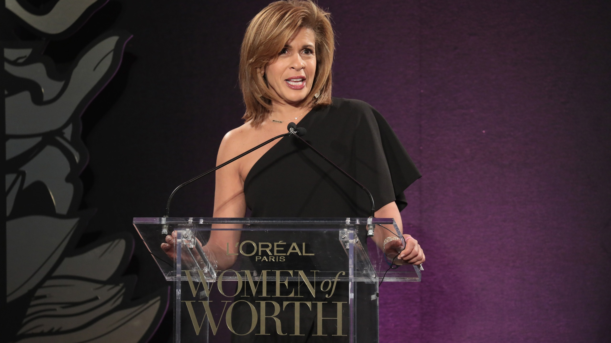 Hoda Kotb speaks onstage during the L'Oreal Paris Women of Worth Celebration 2017 on December 6, 2017 in New York City. (Credit: Cindy Ord/Getty Images for L'Oreal)