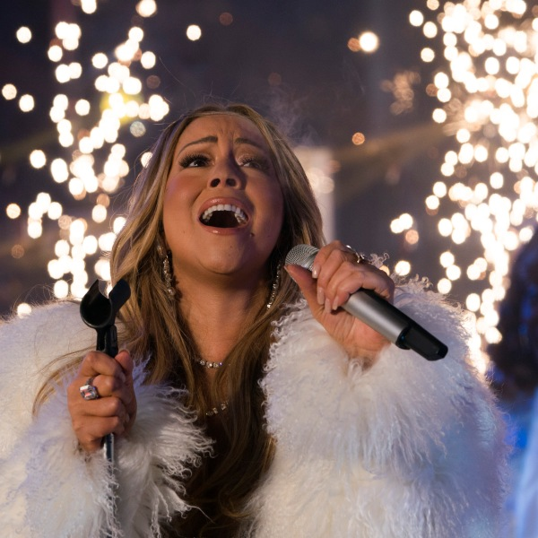 American singer, songwriter, Mariah Carey performs during New Year's Eve celebrations in Times Square on Dec. 31, 2017. (Credit: DON EMMERT/AFP/Getty Images)