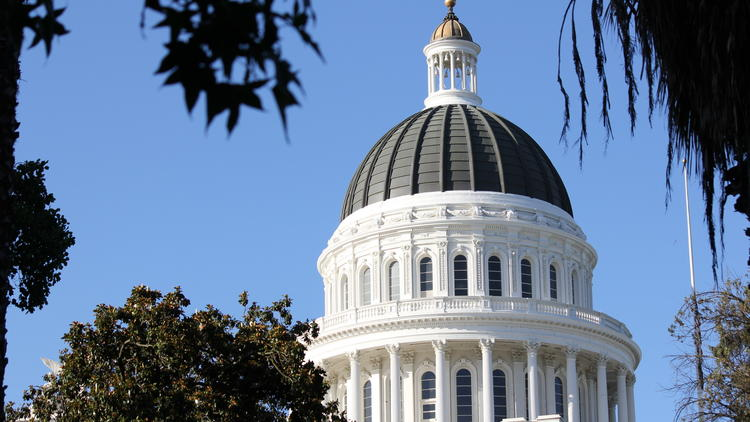 The California state Capitol building in Sacramento is seen in a file photo. (Los Angeles Times)