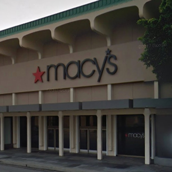 The exterior of Macy's at Westside Pavilion is seen in this Google Maps Street Image.