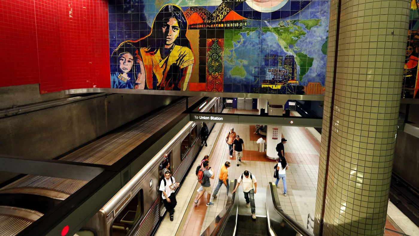A Metro station is seen in a file photo. (Credit: Mel Melcon / Los Angeles Times)