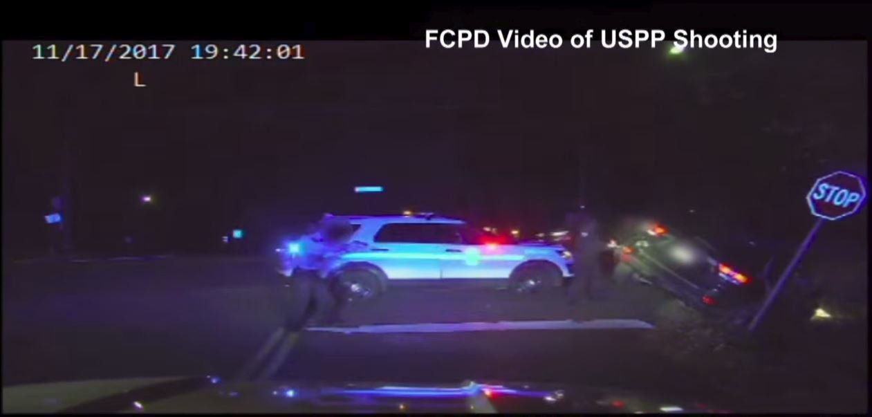 Police in Fairfax County, Virginia released dashcam footage of an officer-involved shooting. (Credit: Fairfax County Police Dept.)