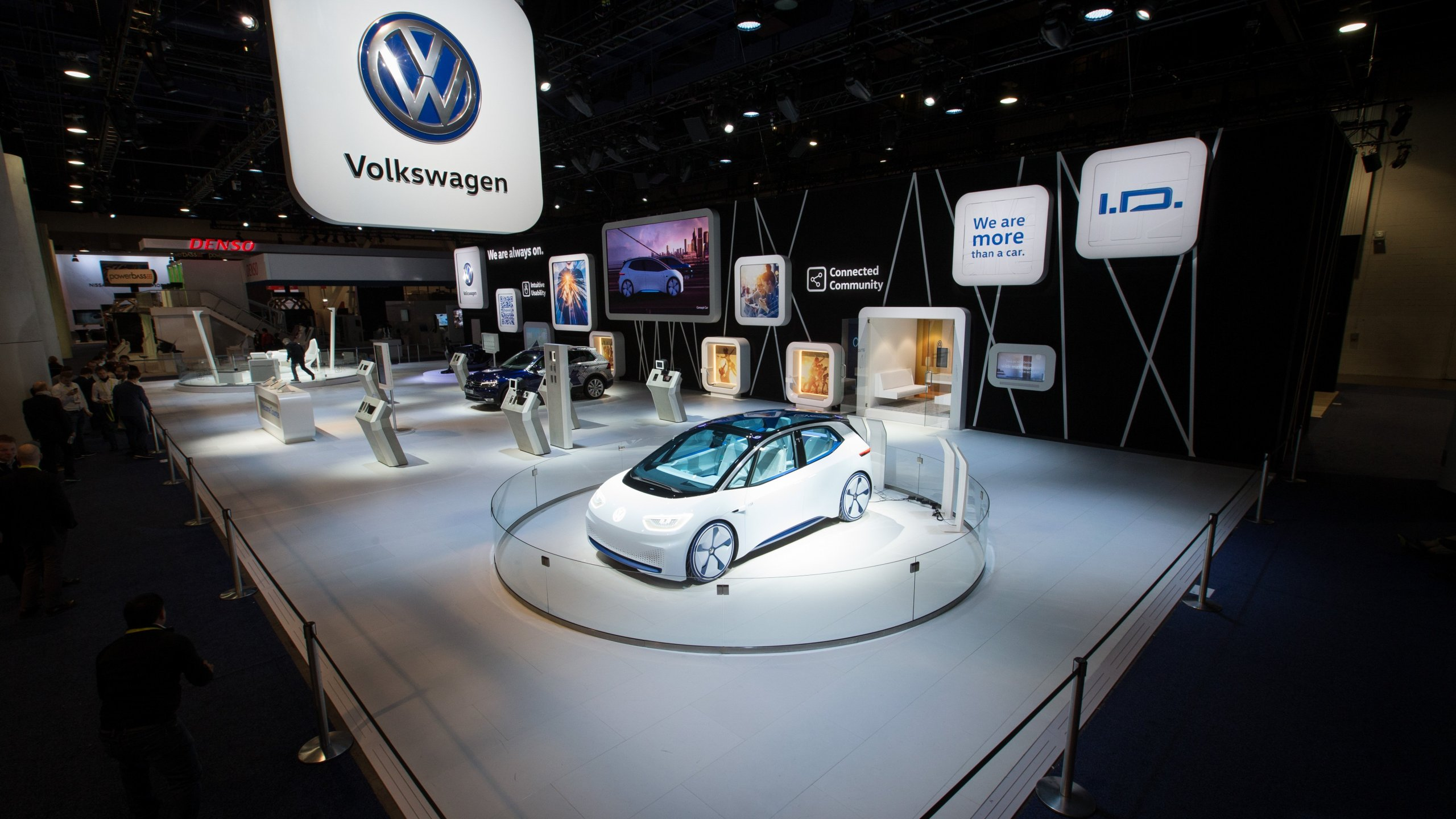 A Volkswagon car at CES in 2017. (Credit: Friso Gentsch/Volkswagen)