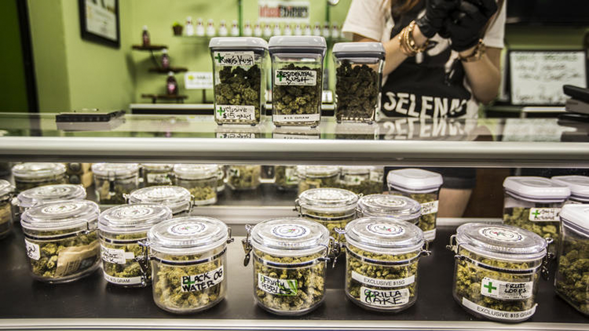 Cathedral City Collective Care in Riverside County got permission to begin selling pot at 12:01 a.m. on Jan. 1. (Credit: Maria Alejandra Cardona / Los Angeles Times)