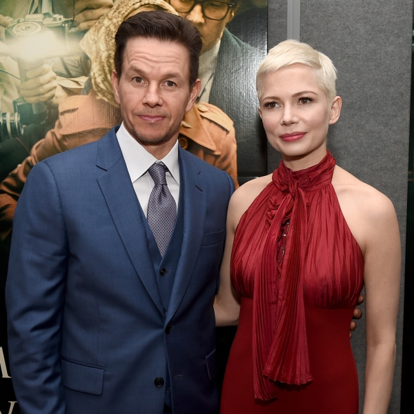 """Mark Wahlberg and Michelle Williams attend the premiere of Sony Pictures Entertainment's """"All The Money In The World"""" at Samuel Goldwyn Theater on December 18, 2017 in Beverly Hills. (Credit: Kevin Winter/Getty Images)"""