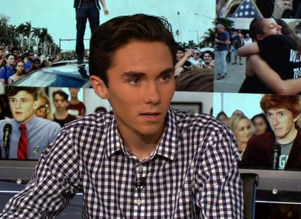David Hogg speaks with CNN's Reliable Sources on Feb. 25, 2018. (Credit: CNN)