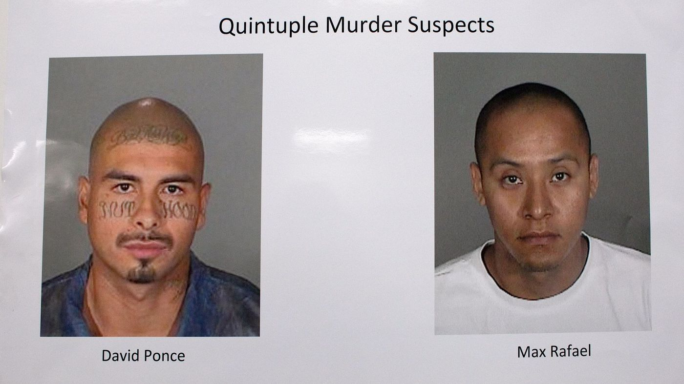 David Cruz Ponce and Max Eliseo Rafael were found guilty of five counts of murder and one count of kidnapping. (Credit: Gina Ferazzi / Los Angeles Times)