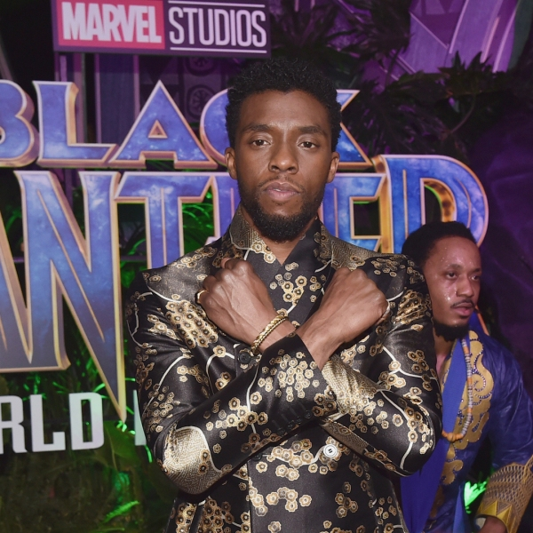 Actor Chadwick Boseman at the Los Angeles World Premiere of Marvel Studios' BLACK PANTHER at Dolby Theatre on January 29, 2018 in Hollywood. (Credit: Alberto E. Rodriguez/Getty Images for Disney)