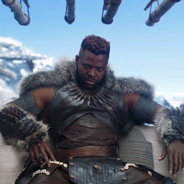 "Black Panther was the number one film in the U.S. for the second weekend in a row, bringing in an estimated $108 million at the box office. Winston Duke seen here stars as M'Baku in ""Black Panther."" (Credit: Marvel Studios via CNN)"