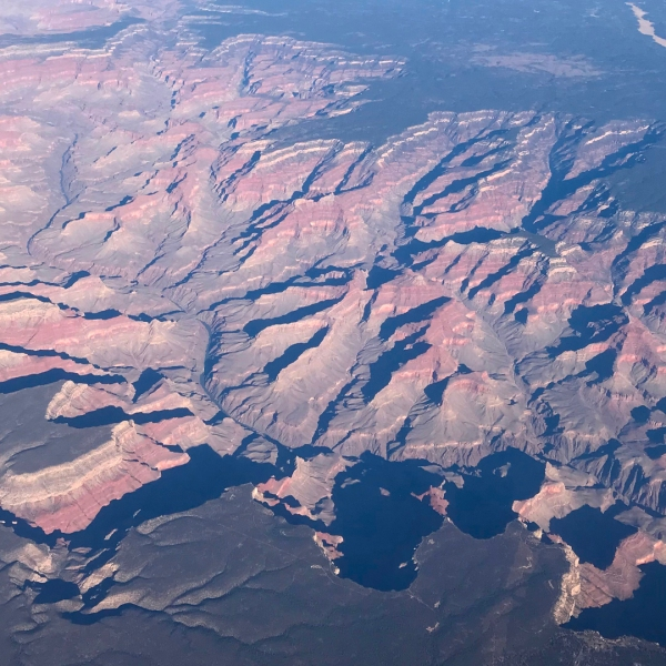 An aerial view of the Kaibab National Forest on the border of the Grand Canyon in Arizona is seen on Jan. 4, 2018. (Credit: Daniel Slim/AFP/Getty Images)