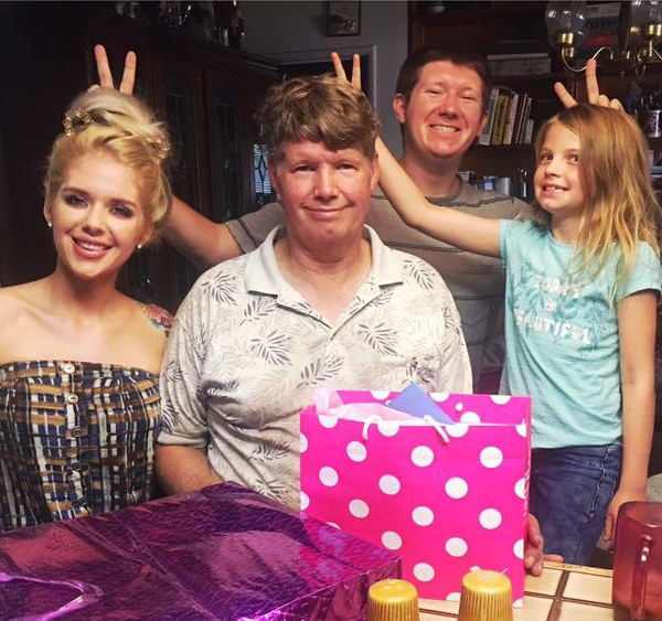 A photo posted to Amber Hill's Facebook page shows a Father's Day celebration for Tom Hastings, second from left, on June 19, 2017.