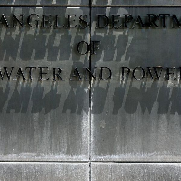 A sign for the Los Angeles Department of Water and Power is pictured here. (Credit: Robert Gauthier / Los Angeles Times)