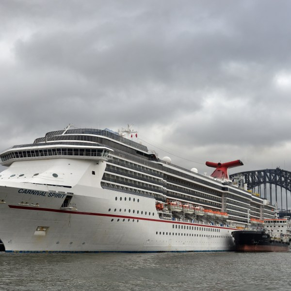 A Carnival cruise shift is seen docked in Sydney Harbour in this file photo. (Credit: Peter Parks/AFP/Getty Images)