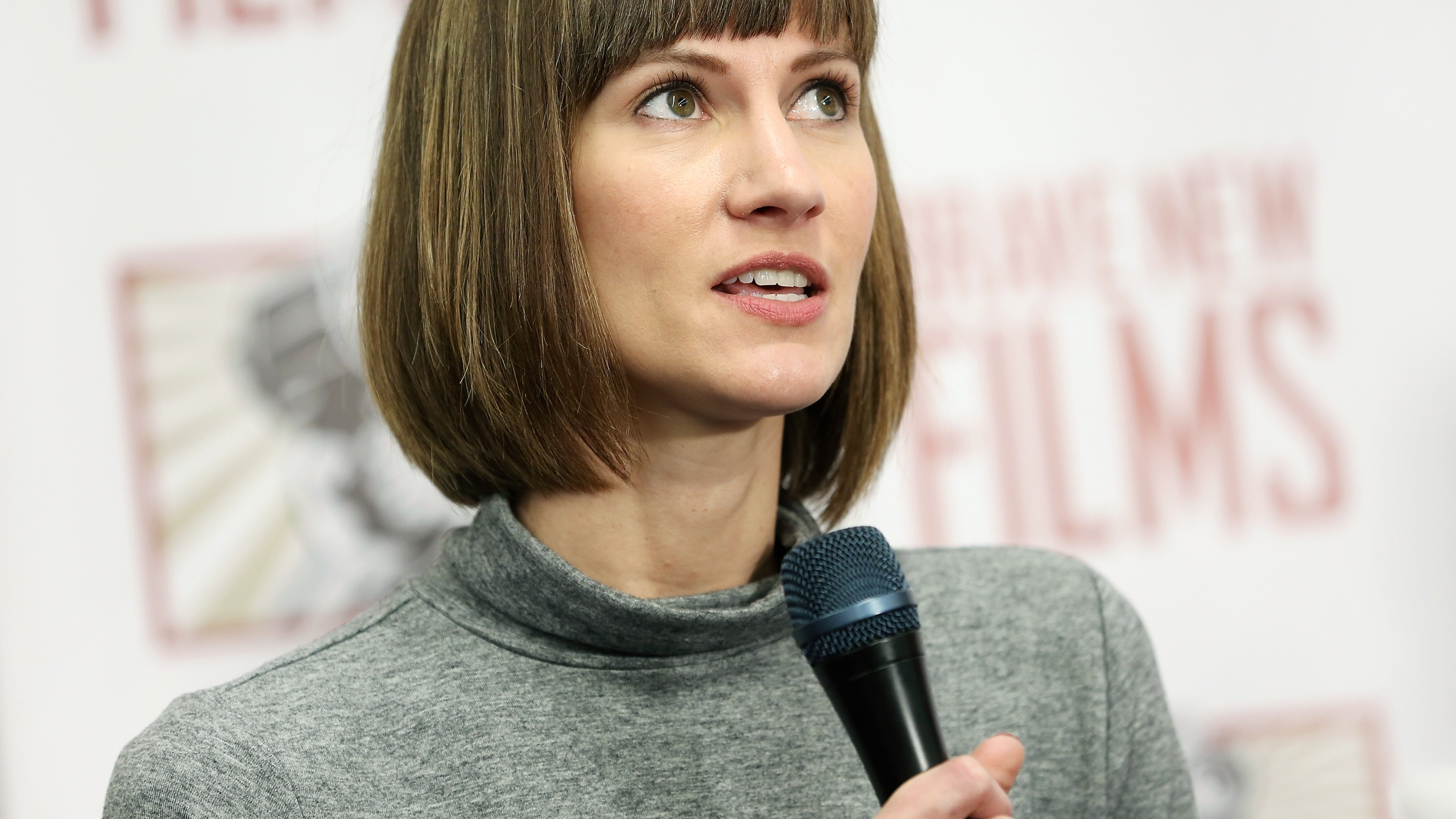 Rachel Crooks speaks during a press conference held by women accusing Trump of sexual harassment in New York City on Dec. 11, 2017. (Credit: Monica Schipper/Getty Images)