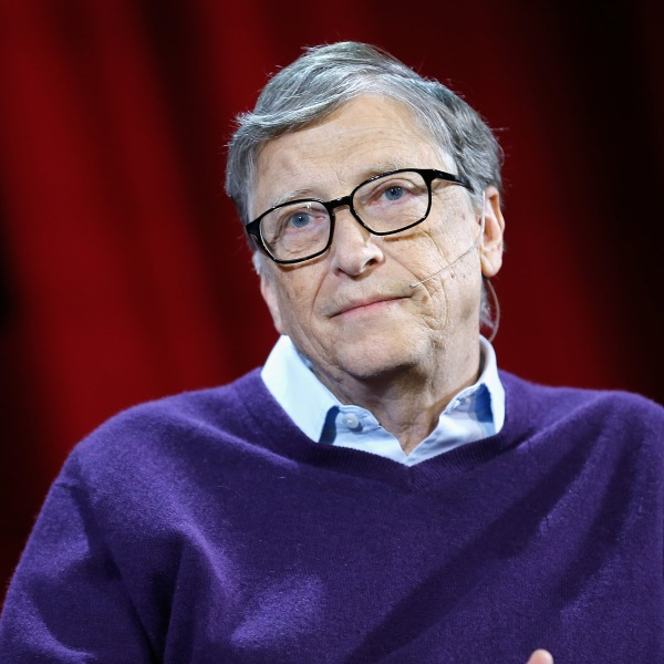 Bill Gates speaks at an event at Hunter College in New York City on Feb. 13, 2018. (Credit: John Lamparski / Getty Images)