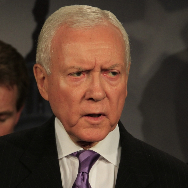 Sen. Orrin Hatch is seen speaking in this undated file photo from CNN.