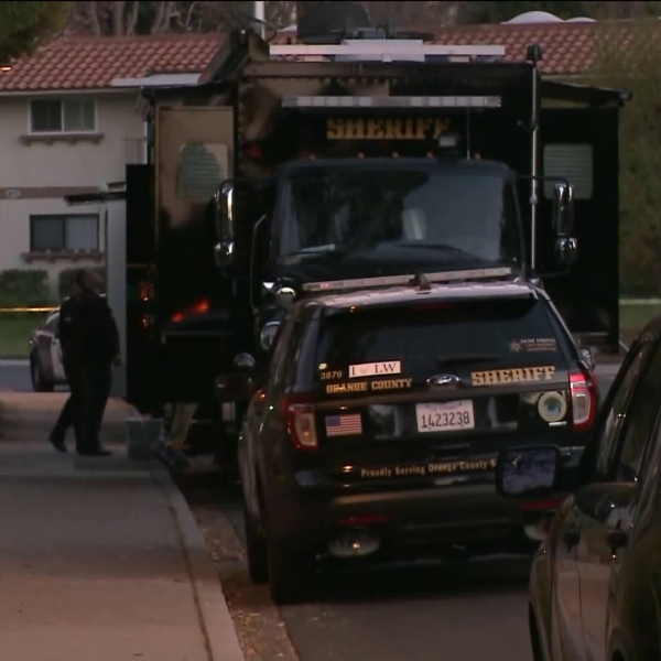 An investigation was underway in the gated retirement community of Laguna Woods Village after a suspect was fatally shot by deputies on Feb. 6, 2018. (Credit: KTLA)