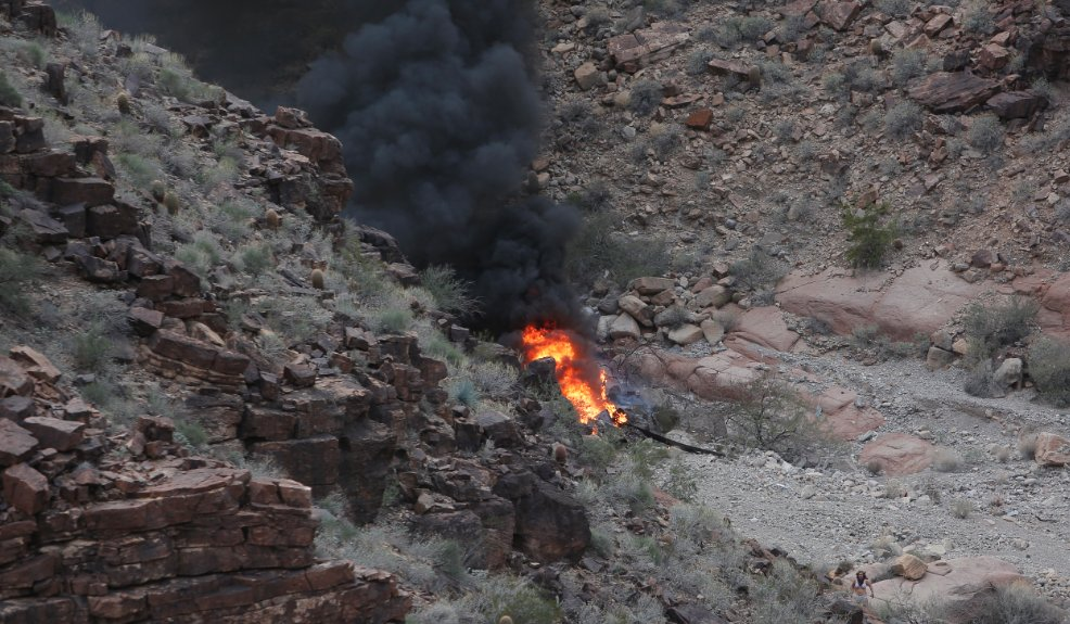 Multiple dead after a helicopter crash in the Grand Canyon. (Credit: Teddy Fujimoto)
