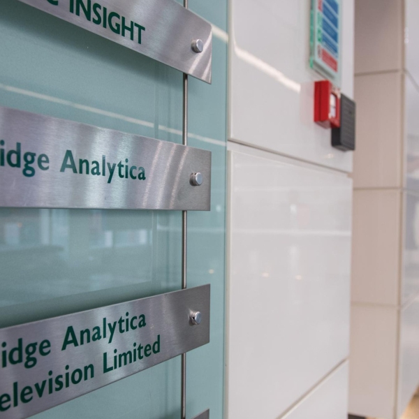 The offices of UK-based Cambridge Analytica are seen here. The data firm announced March 23, 2018, that it is commissioning a third-party audit to prove that it deleted the trove of data about Facebook users that has embroiled it in controversy. (Credit: Chris J. Ratcliffe/Getty Images via CNN)